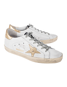 GOLDEN GOOSE DELUXE BRAND Superstar Print Snake White