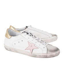 GOLDEN GOOSE DELUXE BRAND Superstar Pink Star White