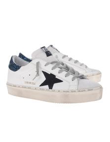 GOLDEN GOOSE DELUXE BRAND Hi Star Blue Glitter White