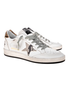 GOLDEN GOOSE DELUXE BRAND Ball Star Snakestar Leopard White