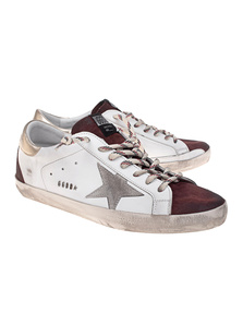 GOLDEN GOOSE DELUXE BRAND Superstar White Burgundy