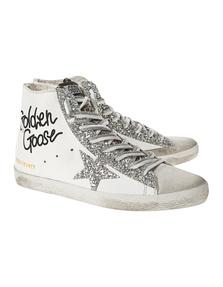 GOLDEN GOOSE DELUXE BRAND Francy Glitter Silver White