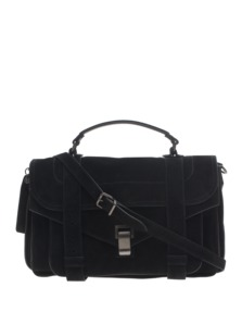 PROENZA SCHOULER PS1 Medium Suede Black
