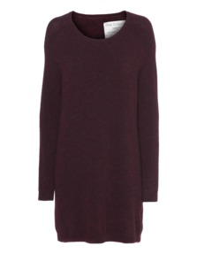 FINE COLLECTION Merino Blend Long Heather Burgundy