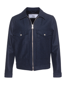 AMI PARIS  Zipped Jacket Indigo