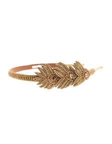 Deepa Gurnani Ornate Metal Gold