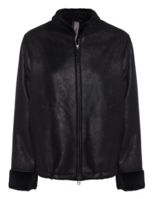 MUST HAVES BY MONTGOMERY Ilka Fake Fur Metallic Black