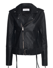 HIRONAÉ Paris Leather Biker Black