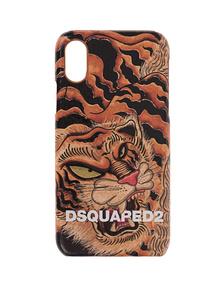 DSQUARED2 iPhone X/Xs Case Tiger Multicolor