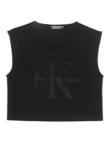 CALVIN KLEIN JEANS Crop Top Black