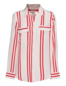 JADICTED Jenna Red Stripe White