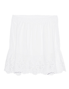 JADICTED Embroidery Off Shoulder White