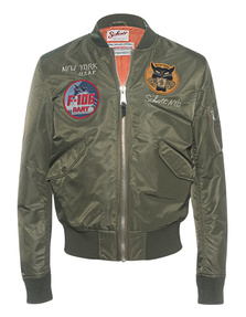 Schott NYC Bomber Patch Army