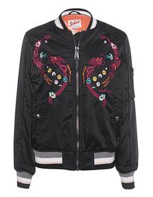 Schott NYC Bomber Embroidery Black