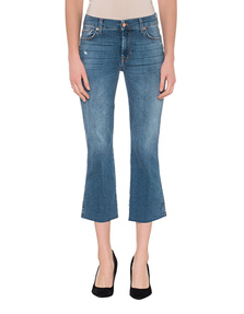 7 FOR ALL MANKIND Cropped Boot Blue
