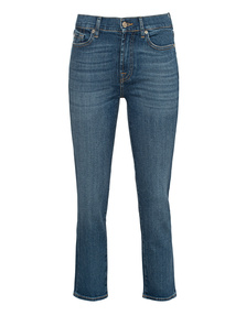 7 FOR ALL MANKIND Straight Crop Blue