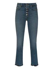 7 FOR ALL MANKIND The Straight Crop Soho Blue