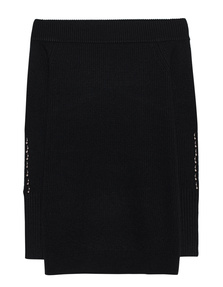 Kendall + Kylie Off-Shoulder Knit Black