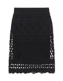 Kendall + Kylie Crochet Pencil Black