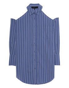 Kendall + Kylie Oversized Striped Blue