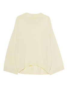 JADICTED Cashmere Knit Crew Neck Yellow