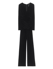 NORMA KAMALI Shirred Waist Jumpsuit Black