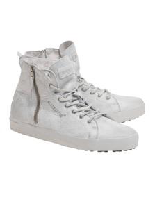 BLACKSTONE Coated Leather White