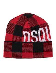 DSQUARED2 Logo Checked Red Black