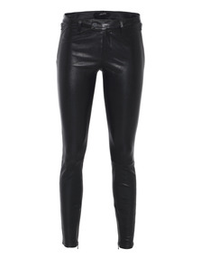 J BRAND L8430 Jamie Leather Biker Noir