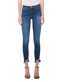 FRAME DENIM Le High Skinny Trinagle Hem Blue