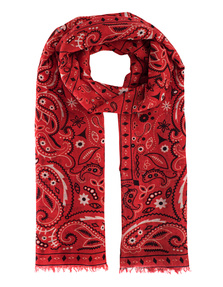 ALBEROTANZA Light Pashmina Pattern Red White
