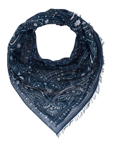 ALBEROTANZA Light Pashmina Small Pattern Blue