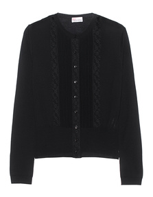 RED VALENTINO Knit Cardigan Lace Black