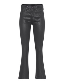 AG Jeans The Jodi Crop Leatherrette Super Black