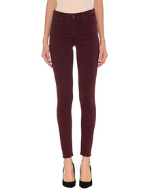 AG Jeans The Farrah Skinny Ankle Bordeaux