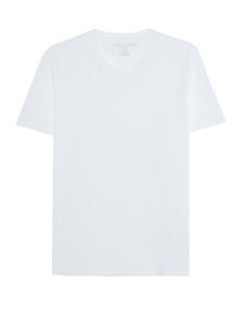 Majestic Filatures  Vneck Deluxe Cotton White