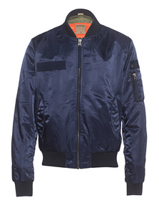 TRUE RELIGION Solid Bomber Night Blue