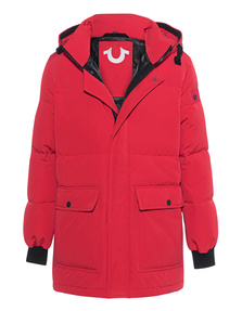TRUE RELIGION Down Parka Red
