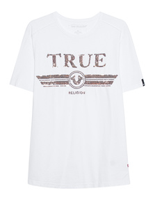 TRUE RELIGION Logo Glitter White