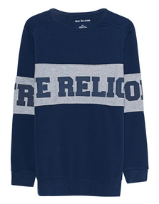TRUE RELIGION Contrast Rugby Blue