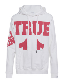 TRUE RELIGION Big True Logo Off White