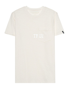 TRUE RELIGION  Pocket Logo Off White