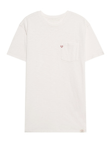 TRUE RELIGION Crewneck Shirt Milky White