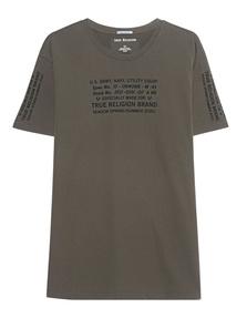 TRUE RELIGION Crewneck Shirt Military Olive