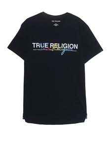 TRUE RELIGION Crewneck Colorful Stitching Black