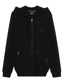 TRUE RELIGION Hooded Metal Black