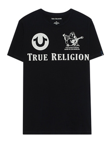 TRUE RELIGION Allover Logo Black