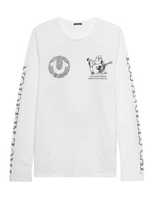 TRUE RELIGION Crystal Logo White