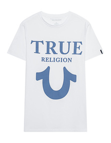 TRUE RELIGION Big Horseshoe Crew Neck White