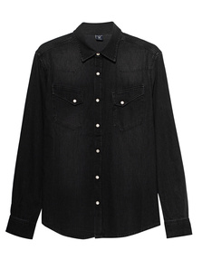 TRUE RELIGION Denim Men Shirt Black